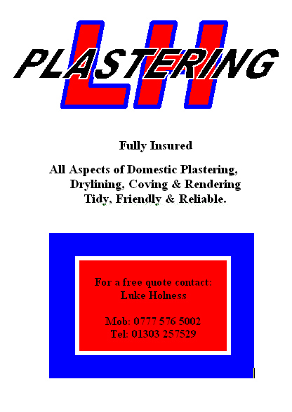 Advertisement for L H Plastering